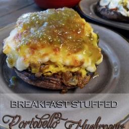Breakfast Stuffed Portobello Mushrooms